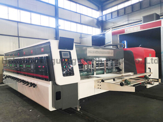 NPA1224 Fully Computer Printing Slotting Die-cutting Machine/ceramic roller
